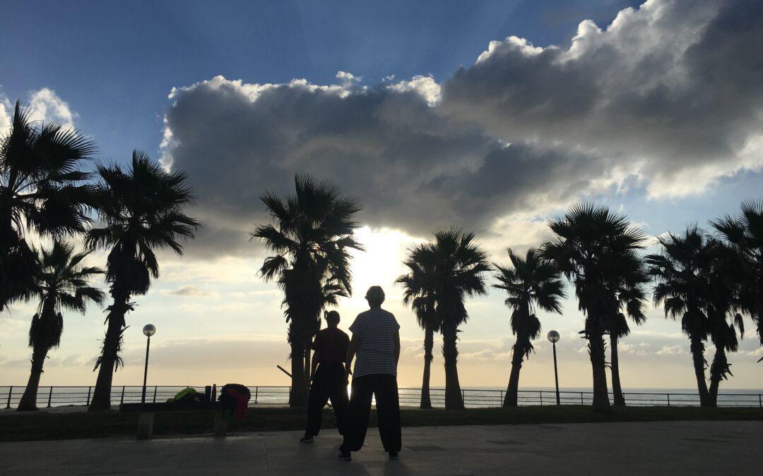 Tai Chi at sunset playa Flamenca